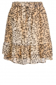 Set |  Animal print skirt Ayana | brown  | Picture 1
