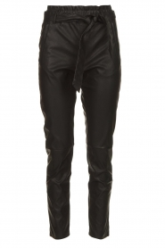 Knit-ted |  Faux leather pants Frida | black  | Picture 1