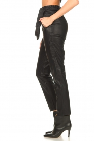 Knit-ted |  Faux leather pants Frida | black  | Picture 5
