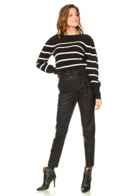 Knit-ted |  Faux leather pants Frida | black  | Picture 2