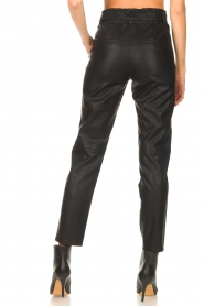 Knit-ted |  Faux leather pants Frida | black  | Picture 6