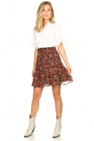 Set |  Floral skirt Ayesha | red  | Picture 7
