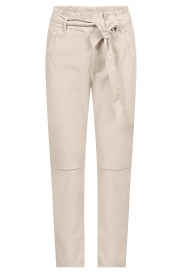 Knit-ted |  Faux leather pants Frida | natural  | Picture 1