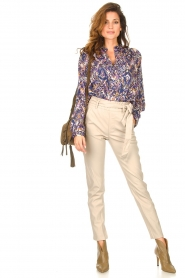 Knit-ted |  Faux leather pants Frida | natural  | Picture 2