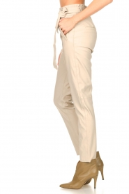 Knit-ted |  Faux leather pants Frida | natural  | Picture 5
