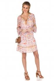Antik Batik | Mini jurk Samsa | roze  | Afbeelding 3