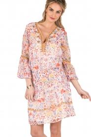 Antik Batik | Mini jurk Samsa | roze  | Afbeelding 2