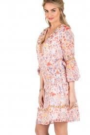 Antik Batik | Mini jurk Samsa | roze  | Afbeelding 4