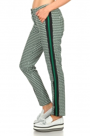 Par 69 |  Golf pants with Escher print Ballot | green   | Picture 4