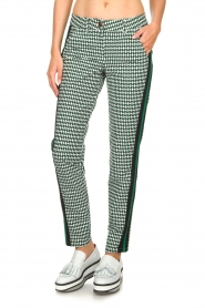 Par 69 |  Golf pants with Escher print Ballot | green   | Picture 2