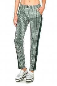 Par 69 |  Golf pants with Escher print Ballot | green   | Picture 3