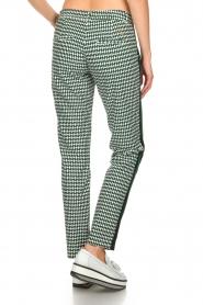 Par 69    Golf pants with Escher print Ballot   green     Picture 5