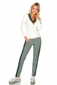 Par 69 |  Golf pants with Escher print Ballot | green   | Picture 2