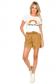 Set |  Shorts with bow detail Arisa | camel  | Picture 3