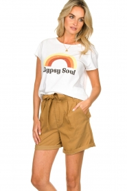 Set    Shorts with bow detail Arisa   camel    Picture 5