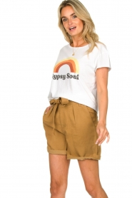 Set    Shorts with bow detail Arisa   camel    Picture 2