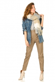 Knit-ted |  Faux leather pants Frida | cognac  | Picture 2