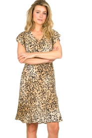 Set |  Animal print dress Anouk | brown  | Picture 4