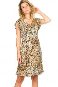 Set |  Animal print dress Anouk | brown  | Picture 2