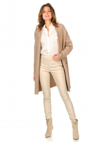 Knit-ted |  Faux leather leggings Amber | natural  | Picture 3
