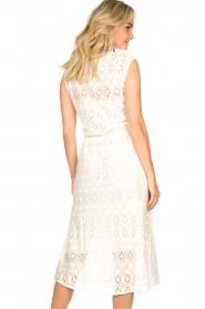 Set | Ajour jurk Aviëlla | wit  | Afbeelding 6