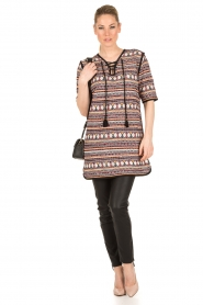 Antik Batik | Lace-up tuniekjurk Sancha | zwart  | Afbeelding 5