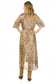 Set |  Animal print maxi dress Aurora | brown  | Picture 6