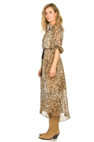 Set |  Animal print maxi dress Aurora | brown  | Picture 5