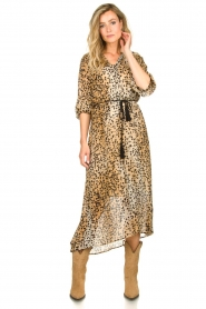 Set |  Animal print maxi dress Aurora | brown  | Picture 2