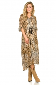 Set |  Animal print maxi dress Aurora | brown  | Picture 3
