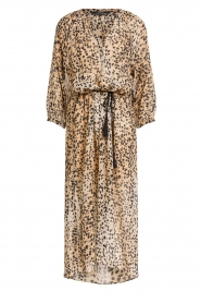 Set |  Animal print maxi dress Aurora | brown  | Picture 1