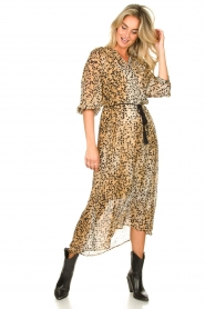 Set :  Animal print maxi dress Aurora | brown - img4