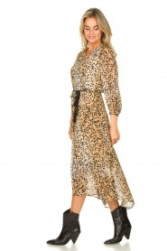 Set :  Animal print maxi dress Aurora | brown - img5