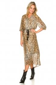 Set | Maxi jurk met dierenprint Aurora | bruin  | Afbeelding 2