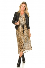 Set :  Animal print maxi dress Aurora | brown - img3