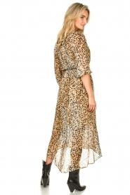 Set | Maxi jurk met dierenprint Aurora | bruin  | Afbeelding 6