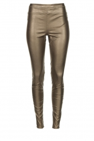 Knit-ted |  Faux leather legging Amber | metallic  | Picture 1