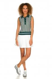 Par 69 |  Golf dress with Escher print Beaudille | green  | Picture 3