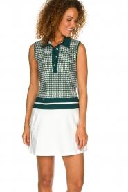 Par 69 |  Golf dress with Escher print Beaudille | green  | Picture 2