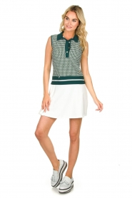 Par 69 |  Golf dress with Escher print Beaudille | green  | Picture 3
