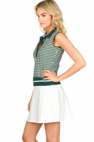 Par 69 |  Golf dress with Escher print Beaudille | green  | Picture 4