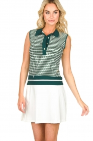 Par 69 |  Golf dress with Escher print Beaudille | green  | Picture 2