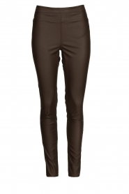 Knit-ted |  Faux leather leggings Amber | brown  | Picture 1