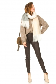 Knit-ted |  Faux leather leggings Amber | brown  | Picture 2