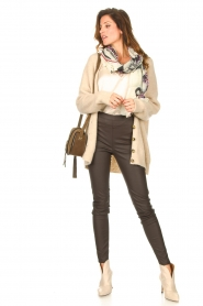 Knit-ted |  Faux leather leggings Amber | brown  | Picture 4