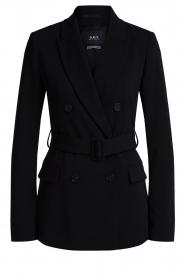 Set |  Belted blazer Amber | black  | Picture 1