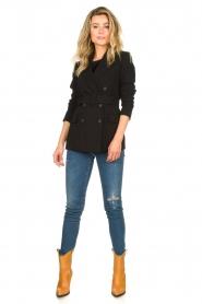 Set |  Belted blazer Amber | black  | Picture 3