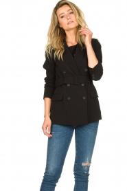 Set |  Belted blazer Amber | black  | Picture 2