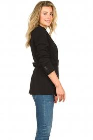 Set |  Belted blazer Amber | black  | Picture 5