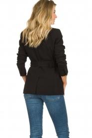 Set |  Belted blazer Amber | black  | Picture 6